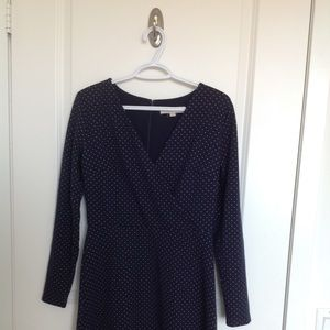 *BRAND NEW* navy and white polka dot dress.